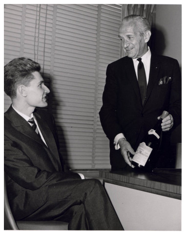 (L-R) A young Robert Drouhin and Michel Dreyfus circa 1957 (Photo: Business Wire)