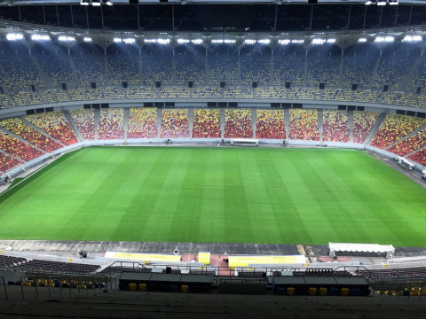 National Arena Bucharest Completes Fast-Paced Addition of LED Stadium Lighting for UEFA EURO 2020 (Photo: Business Wire)