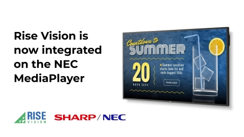 Rise Vision and Sharp NEC Display Solutions Partner to Offer Schools a Free Year of Digital Signage (Graphic: Business Wire)