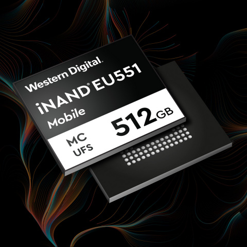 The new Western Digital iNAND® MC EU551 delivers the high-performance storage consumers need to be able to use their phones for emerging applications like ultra-high-resolution cameras, AR/VR, gaming and 8K video. (Graphic: Business Wire)