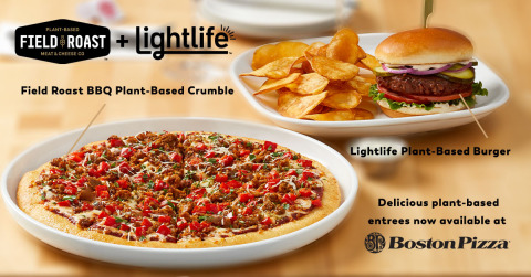 Lightlife and Field Roast Team Up with Boston Pizza to Offer Plant-Based Protein Options for the First Time, Welcome Canadians Back to the Patio this Summer