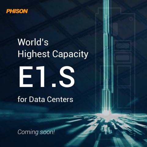 Phison's own E1.S coming to market soon (photo courtesy of Phison)
