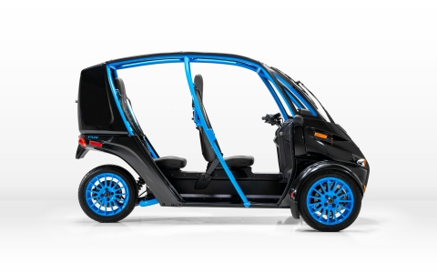 """Arcimoto will offer test drives of its ultra-efficient electric vehicles alongside Infrastructure-as-a-Service (IaaS) leader TESIAC, and in cooperation with """"Best in Class"""" EV charging platforms Beam and JuiceBar, to demonstrate future-proof, smart city, shared mobility options for public and private sectors. Photo by Arcimoto"""