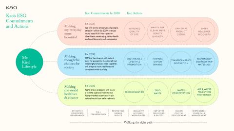 Kao's ESG Strategy Kirei Lifestyle Plan (Graphic: Business Wire)