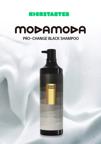 MODA MODA, a cosmetics and pharmaceutical manufacturer and distributor, launched its distinguishing hair-dyeing shampoo 'Pro-Change Black Shampoo' through Kickstarter on June 22nd. After seven years of joint research and development with Dr. Haeshin Lee (Ph.D.), a chemist from MIT, 'Pro-Change Black Shampoo' is successfully commercialized. The shampoo is formulated with a natural antioxidant, patented with its natural ingredients, which reacts with oxygen and sunlight to darken gray hair into blackish brown gradually. (Graphic: Business Wire)