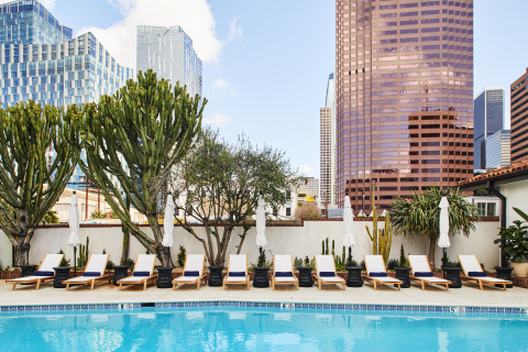 Iconic, coffin-shaped pool at Hotel Figueroa. (Photo: Business Wire)