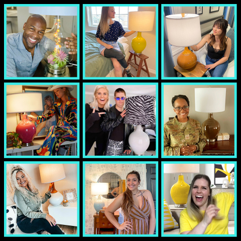 This is a sample of the 26 popular TikTok creators from the recently completed Lamps Plus campaign. Top row (from left): Kevin Anthony, Jo Beckwith, Hayley Orrantia. Second row (from left): Morgan Walsh, Lindsey and Nate Simon, Taisha Moore. Bottom row (from left): Taylor Massey, Jenni Hiles, Heidi. (Photo: Business Wire)