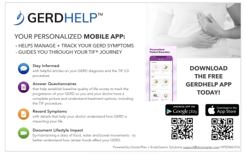 GERDHelp™: Your Personalized Mobile App (Graphic: Business Wire)