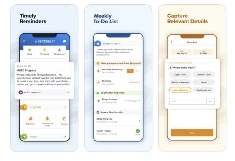GERDHelp™ Mobile App Preview (Graphic: Business Wire)