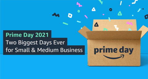 Prime Day Delivered the Two Biggest Days Ever for Small & Medium-Sized Businesses in Amazon's Stores Worldwide, Growing Even More than Amazon Retail, and Members Saved More than Any Previous Prime Day (Graphic: Business Wire)