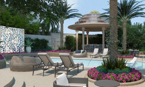 Crockfords Las Vegas, LXR Hotels & Resorts – 宮殿泳池(照片:美國商業資訊)