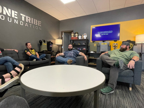 One Tribe Foundation team members meet and greet clients at organization's new facility in Fort Worth, TX. (Photo: Business Wire)