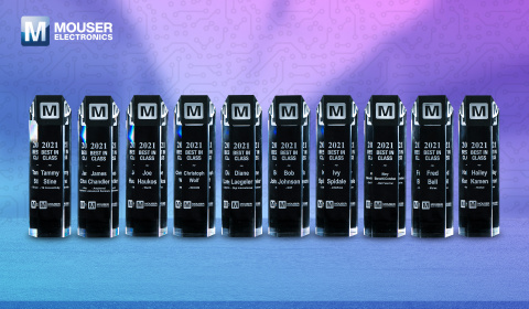 Mouser Electronics congratulates the winners of its annual Best-in-Class Awards, which celebrate manufacturer partners who demonstrate exemplary teamwork. (Photo: Business Wire)