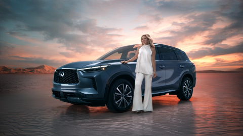 The next step in the evolution of INFINITI begins as the credits roll on the reveal film for the all-new 2022 INFINITI QX60. Today, INFINITI introduced the all-new, next generation of its bestselling family SUV, the 2022 INFINITI QX60. On sale in North America this fall, the 2022 INFINITI QX60 continues one of the most successful nameplates for the automaker, selling more than 400,000 units over its history, and updates it with modern artistry and craftsmanship. (Photo: Business Wire)