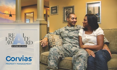 Corvias Property Management received 16 awards for customer service excellence at its six Air Force Base housing communities. (Photo: Business Wire)