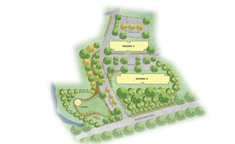 Location of proposed apartment complex on Norman Berry Drive. (Graphic: Business Wire)