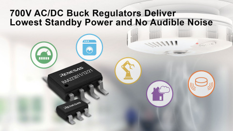700V AC/DC buck regulators deliver lowest standby power and no audible noise (Graphic: Business Wire)
