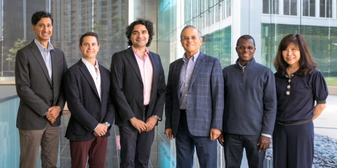 Vida Ventures Leadership (from left to right): Rajul Jain, Stefan Vitorovic, Arjun Goyal, Arie Belldegrun, Jean-Philippe Kouakou-Zebouah, Helen S. Kim (Photo: Business Wire)