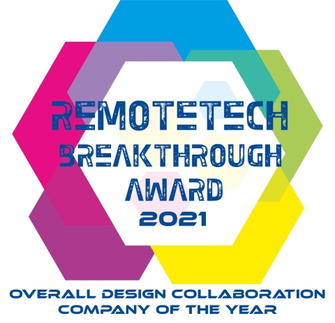 """Canva wins the 2021 """"Overall Design Collaboration Company of the Year"""" award by RemoteTech Breakthrough. (Graphic: Business Wire)"""