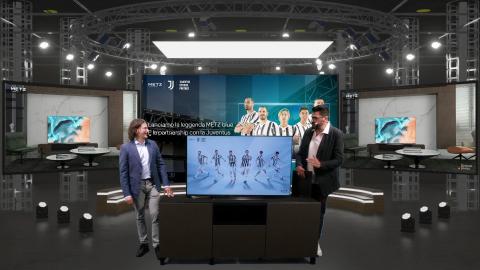 METZ blue, in collaborazione strategica globale con Juventus, saluterà i tifosi italiani di calcio con esperienze di TV immersive (Photo: Business Wire)
