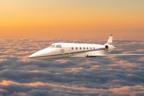 Yugo私人航空公司的灣流G200中程私人飛機(照片:美國商業資訊)