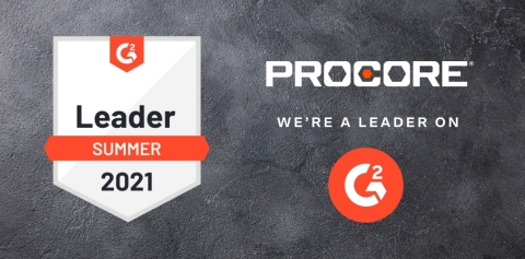 Procore Earns Top Honors for Five Key Categories in G2 2021 Summer Report (Photo: Business Wire)