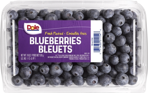 Dole Blueberries 18oz clamshell. (Photo: Business Wire)