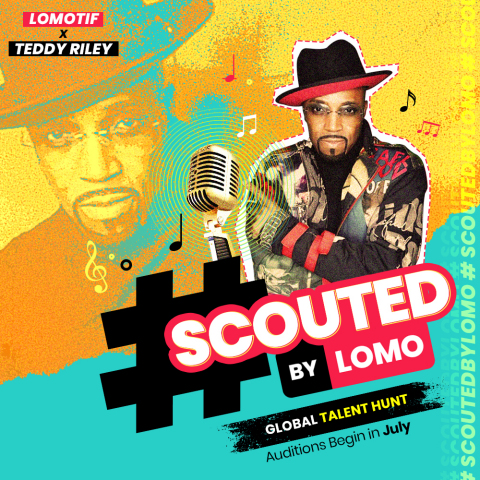 Lomotif and Teddy Riley looking for the next big music talent with #ScoutedByLomo (Graphic: Business Wire)