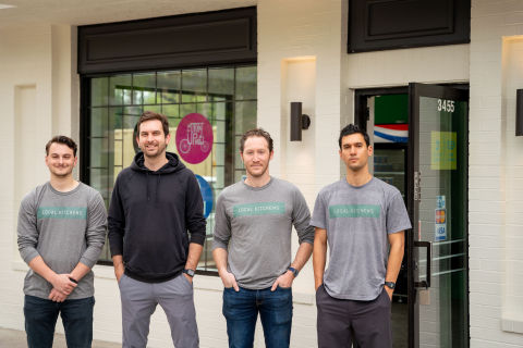 Left to right: Jon Goldsmith (co-founder and CEO), Jordan Bramble (co-founder and CTO), Matthew Rudofker (Head of Culinary), Andrew Munday (co-founder and COO) (Photo: Business Wire)