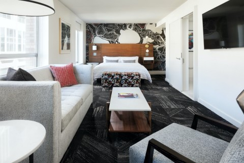 The Studio Suites have 1.5 bathrooms and sofa beds. Some have terraces! (Photo: Business Wire)