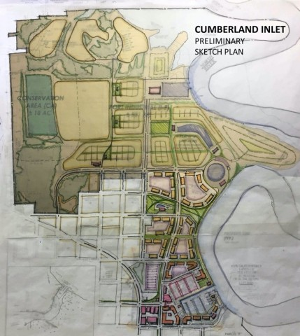 Preliminary sketch plan of Cumberland Inlet. (Graphic: Business Wire)