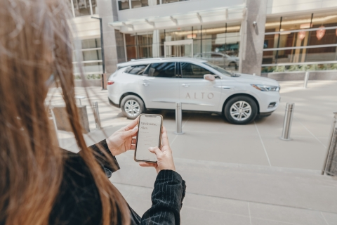 Passengers can request a ride and view trip details directly through the Alto app. (Photo: Business Wire)