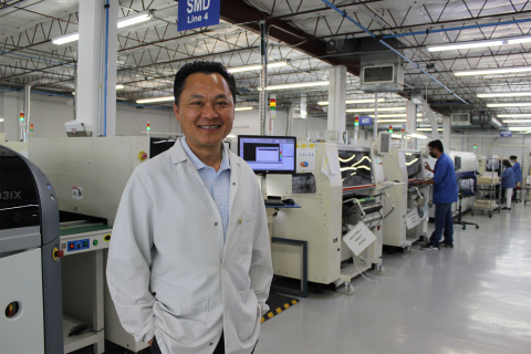 Mike Tieu, Entrepreneur Of The Year™ 2021 Southwest finalist, is pictured at his electronics manufacturing facility in the DFW Metroplex. (Photo: Business Wire)