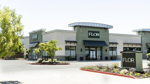 FLOR is looking to redefine the cannabis retail experience. With a space formerly occupied by a major cell phone provider, FLOR has prime location and ample parking for both in-store shopping and curbside pickup. (Photo: Remedy Productions)
