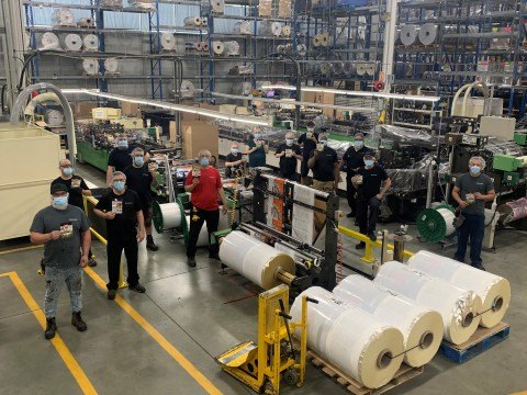 Standing Tall for Excellence: Employees at ProAmpac Terrebonne, Quebec (Photo: Business Wire)