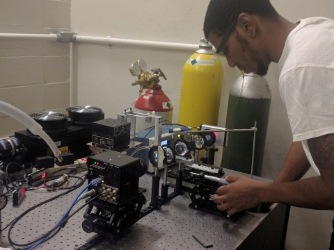 A mechanical engineering student at work at Tuskegee University. (Photo: Business Wire)