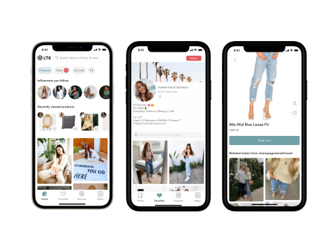Shop looks and videos created by thousands of global influencers, stylists and tastemakers. Everything in LTK is 100% shoppable, so you can instantly purchase products from over 5,000 retailers across fashion, home, beauty, and more. (Photo: Business Wire)