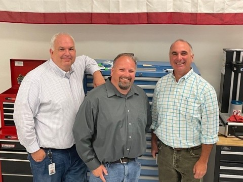 (Left to right) Tim Warden, Steve Rengers and Greg Morris, co-founders of Vertex Manufacturing (Photo: Business Wire)