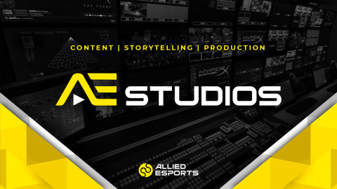 Allied Esports has launched AE Studios as a new solution for original content, storytelling and production services needs outside of esports tournament operations and broadcasts. (Graphic: Business Wire)