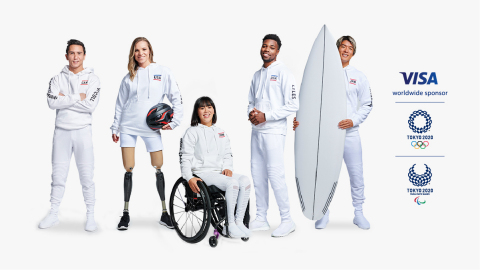 Team Visa goes for gold. Largest and most diverse athlete roster unveiled for Olympic and Paralympic Games Tokyo 2020, comprised of 102 athletes, spanning 54 markets and 28 sports. (Graphic: Business Wire)