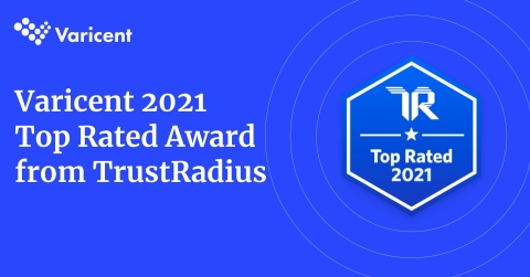 Varicent has been recognized by TrustRadius with a 2021 Top Rated Award for their Varicent Incentive Compensation Management solution. (Photo: Business Wire)