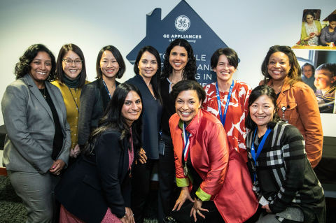 A group of GE Appliances' employees celebrate International Women's Day. The Company was recently named one of the 2021 Best Companies for Multicultural Women by Seramount. (Photo: GE Appliances, a Haier company)
