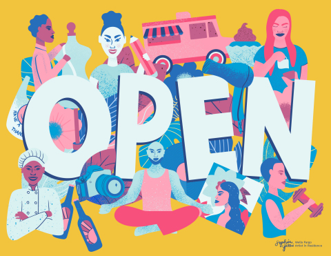Open Sign (Photo: Wells Fargo)