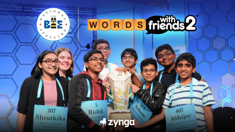 Zynga Celebrates the 2021 Return of the Scripps National Spelling Bee in Hit Mobile Game Franchise, Words With Friends (Photo: Business Wire)