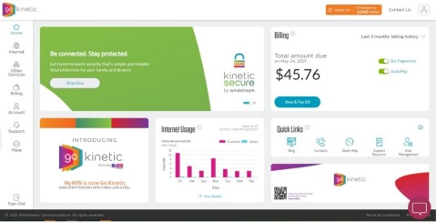 Go Kinetic's refreshed homepage (Graphic: Business Wire)