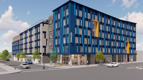Urban Catalyst Purchases Final Property for New Downtown Delmas Senior Living Center. (Rendering by AEDIS Architects)