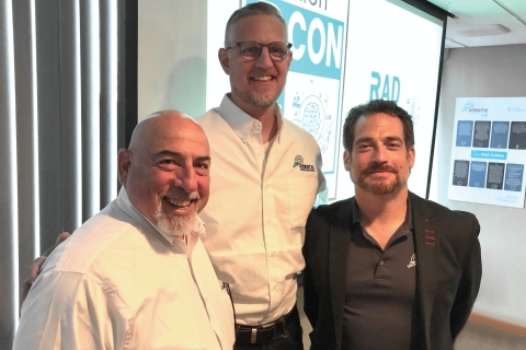 Jeffrey Slotnick, newly appointed RAD Board of Advisors Chairman along with Mark Folmer and RAD CEO Steve Reinharz (Photo: Business Wire)