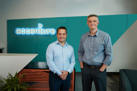 L to R: John Rosato, CEO of CS Technology and Steve Murphy, senior managing director of Accenture Technology (Photo: Business Wire)