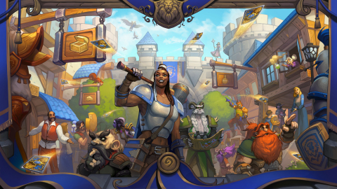 The latest 135-card expansion for Hearthstone is inspired by the city of Stormwind, a World of Warcraft hallmark, and features new mechanics that evoke players' cherished formative adventures. (Graphic: Business Wire)