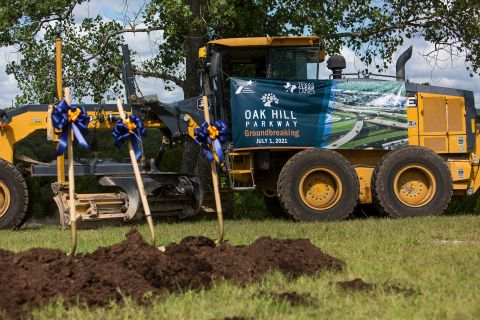 Fluor Corporation JV Breaks Ground on Oak Hill Parkway Infrastructure Project in Austin, Texas earlier today. (Photo: Business Wire)